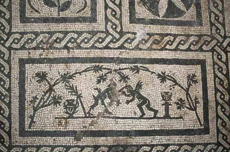Roma, Metro C - Amba-Aradam Ipponio: dettaglio del mosaico - ritrovamenti archeologici, febbraio 2018