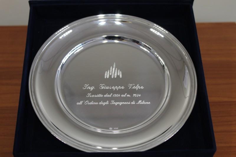 Ordine degli Ingegneri di Milano, il riconoscimento per i 50 anni di iscrizione all'Albo dell'ing. Giuseppe Volpe