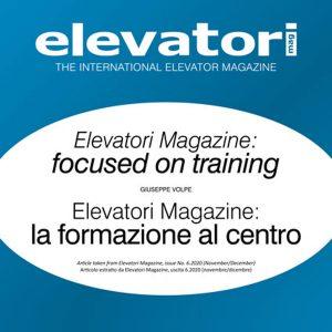 Elevatori Magazine e formazione, lo speciale sul n. 6/2020