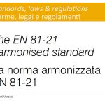 The EN 81-21 harmonised standard
