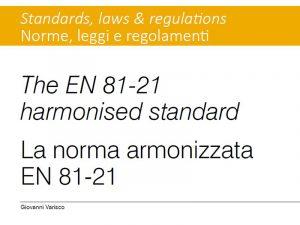 norma armonizzata EN 81-21