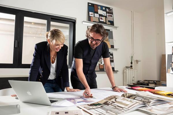 Gli architetti Chiara Caberlon ed Ermanno Caroppi
